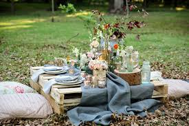 picnic-on-pallets Vintage Tea Parties - a hit with the Hens!