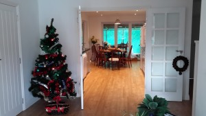 xmastree.kitchen-300x169 Christmas and New Year at Chichester Self Catering