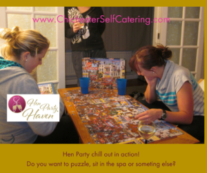 HenPartyPuzzlechillout-300x251 It is OK to have a very chilled and low-key Hen Party?