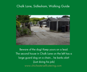 ChalkLan-bewareofdog-300x251 The nearest 30 minute dog walk for my guests
