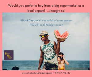 Would-you-prefer-to-buy-from-a-big-supermarket-or-a-local-expert...Thought-so-300x251 How to save money by NOT using booking agencies eg AirBnB