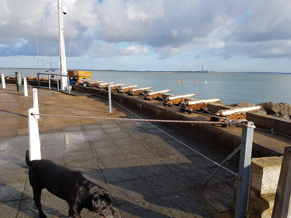 RYS-cannons Visit Cowes during Cowes Week